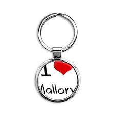 I Love Mallory Round Keychain