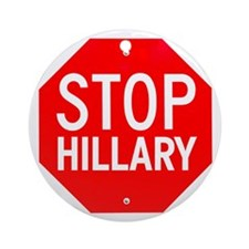 Stop Hillary Round Ornament