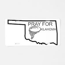 Pray For Oklahoma Aluminum License Plate