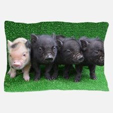 4 micro pigs in a row Pillow Case