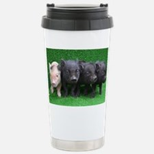 4 micro pigs in a row Stainless Steel Travel Mug