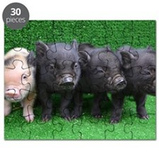 4 micro pigs in a row Puzzle