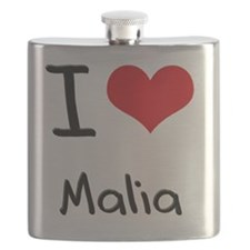 I Love Malia Flask