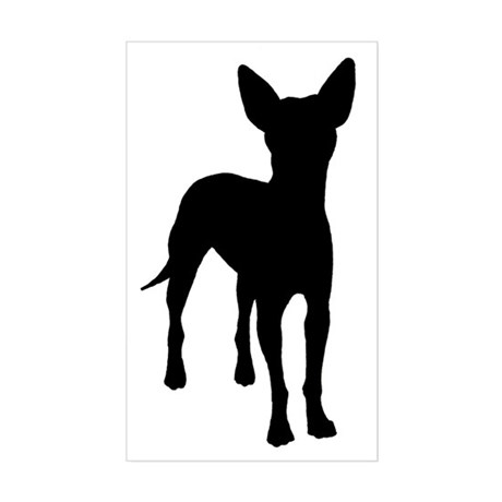 xoloitzcuintli dog Rectangle Sticker