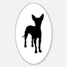 xoloitzcuintli dog Oval Decal