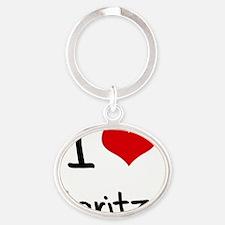 I Love Maritza Oval Keychain