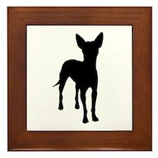 xoloitzcuintli dog Framed Tile
