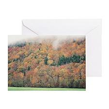 """Tree  Garden  On  A  Mountain"" Greeting Card"