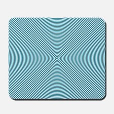 Teal Spiral Mousepad