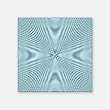"Teal Spiral Square Sticker 3"" x 3"""