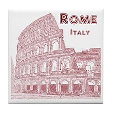 Rome_10x10_v1_Brown_Colosseum Tile Coaster