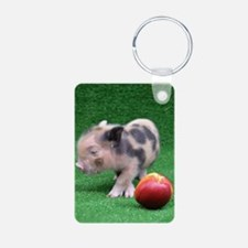 Baby micro pig with Peach Keychains