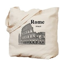 Rome_12X12_v2_Black_Colosseum Tote Bag