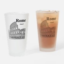 Rome_12X12_v2_Black_Colosseum Drinking Glass