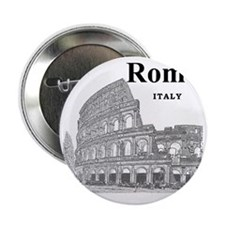 "Rome_12X12_v2_Black_Colosseum 2.25"" Button"