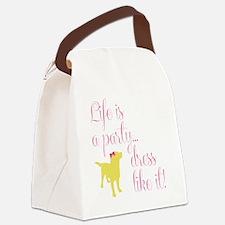Preppy Puppy Canvas Lunch Bag