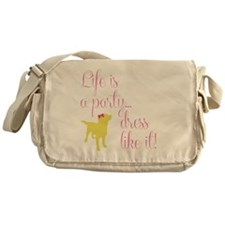 Preppy Puppy Messenger Bag