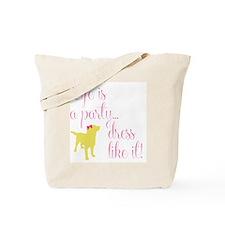 Preppy Puppy Tote Bag