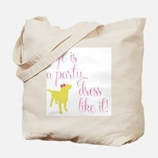 Preppy Puppy Tote Bag