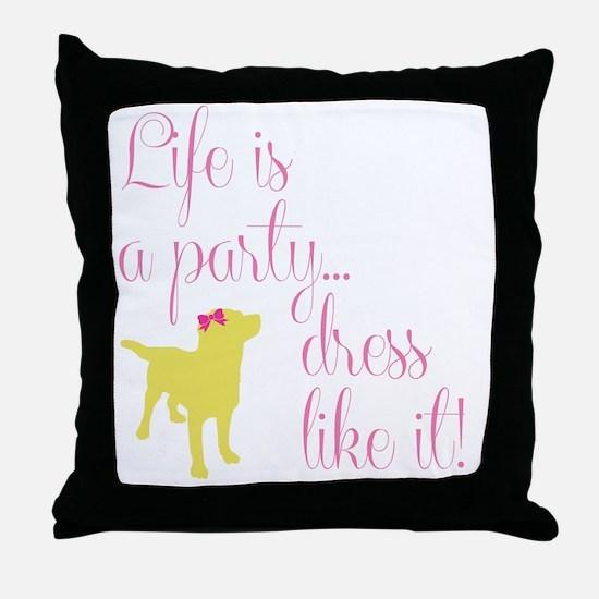 Preppy Puppy Throw Pillow
