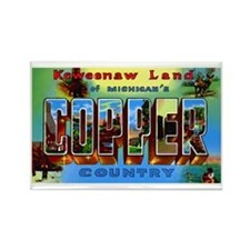 Copper Country Michigan Rectangle Magnet