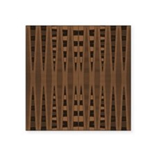 "brown and black abstract Square Sticker 3"" x 3"""