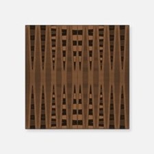 """brown and black abstract Square Sticker 3"""" x 3"""""""