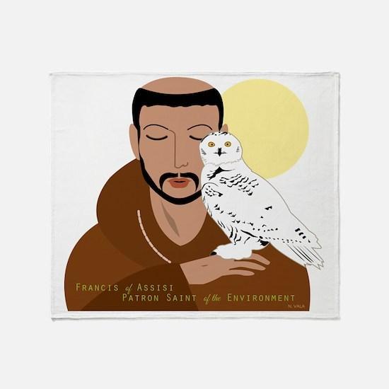 Saint Francis by Nancy Vala Throw Blanket