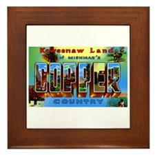 Copper Country Michigan Framed Tile