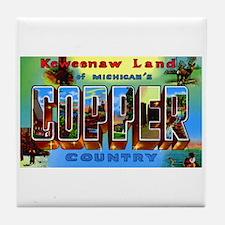 Copper Country Michigan Tile Coaster