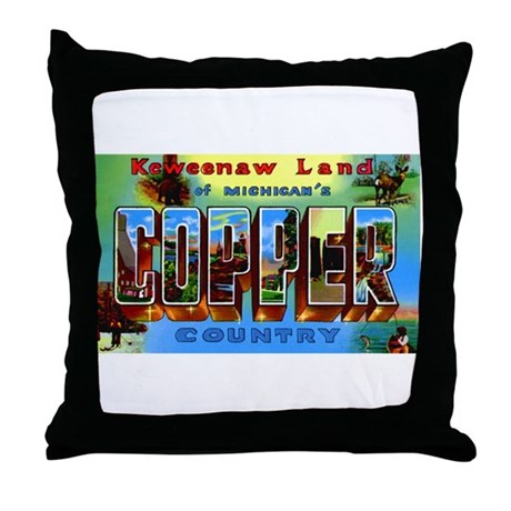 Copper Country Michigan Throw Pillow