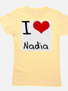 I Love Nadia Girl's Tee