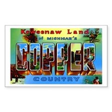 Copper Country Michigan Rectangle Decal