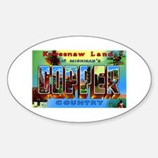 Copper Country Michigan Oval Decal