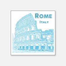 """Rome_10x10_v1_Blue_Colosseu Square Sticker 3"""" x 3"""""""