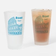 Rome_10x10_v1_Blue_Colosseum Drinking Glass