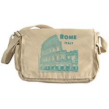 Rome_10x10_v1_Blue_Colosseum Messenger Bag