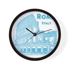 Rome_10x10_v1_Blue_Colosseum Wall Clock