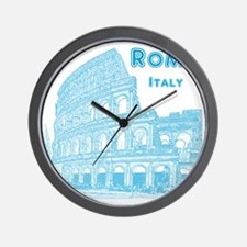 Rome_10x10_v1_Blue_Colosseum Wall Clock