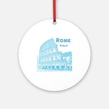 Rome_10x10_v1_Blue_Colosseum Round Ornament