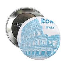 """Rome_10x10_v1_Blue_Colosseum 2.25"""" Button"""
