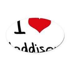 I Love Maddison Oval Car Magnet