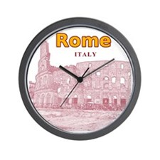 Rome_10x10_v2_Colosseum_Red Wall Clock