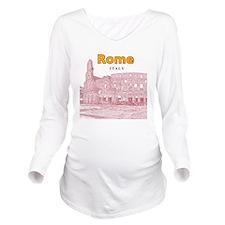 Rome_10x10_v2_Coloss Long Sleeve Maternity T-Shirt