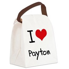 I Love Payton Canvas Lunch Bag