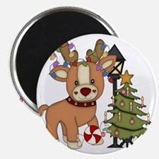 Cute Reindeer and Christmas tree Magnet