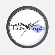 I'm no Angel Wall Clock