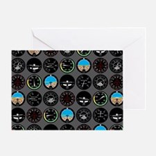 Flight Instruments Greeting Card