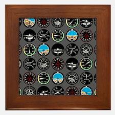 Flight Instruments Framed Tile