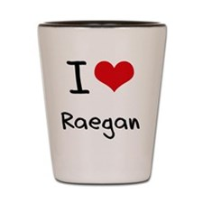 I Love Raegan Shot Glass